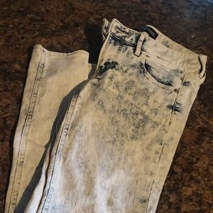 Express style acid washed jeans